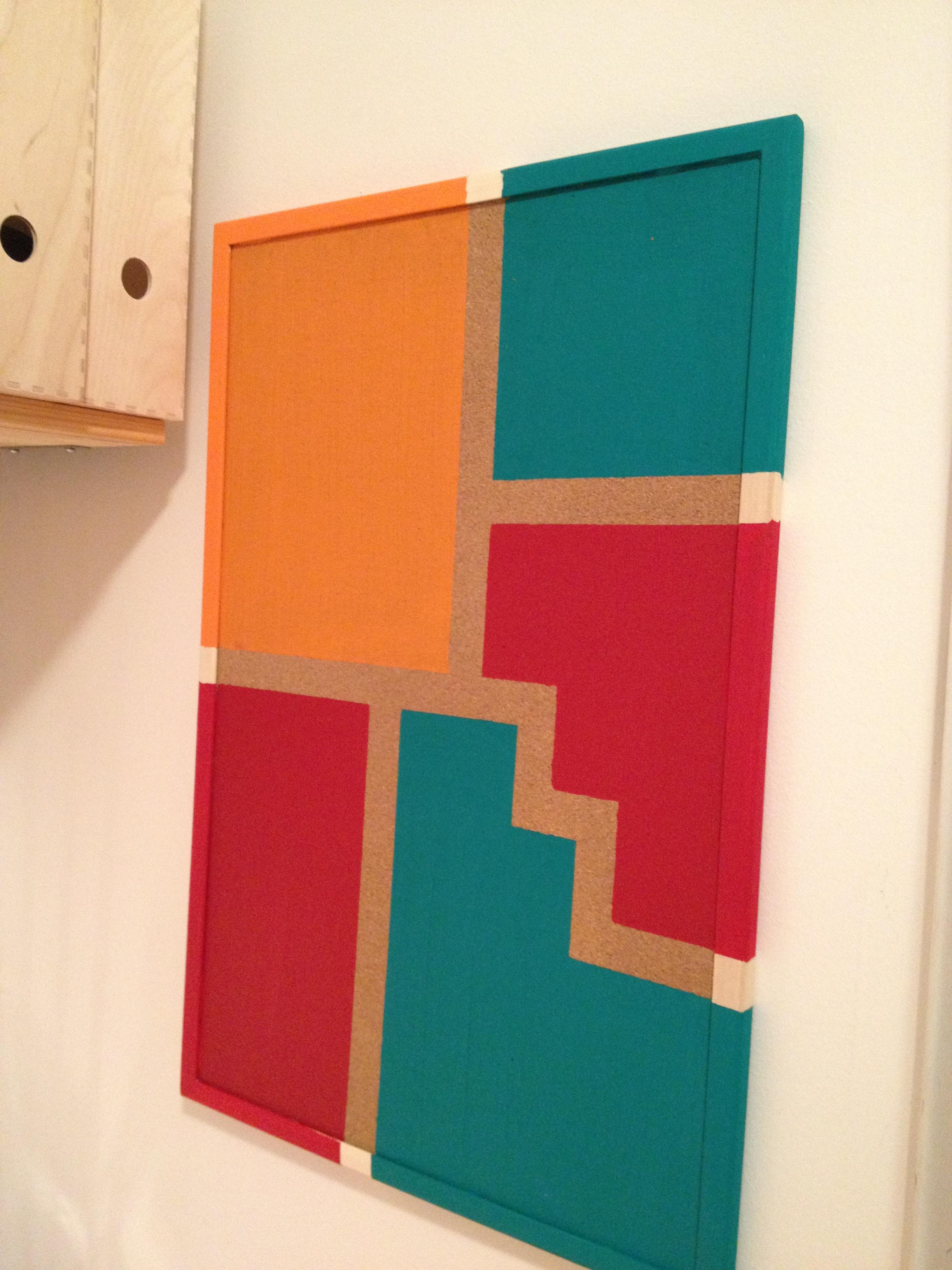 Panneau En Liège Ikea tableau en liège « color block | «rokia décore, mais pas que!