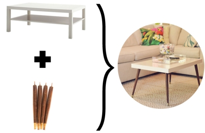 Ikea Hack - DIY Mid-Century Modern Coffee Table by Triple Max Tons 3e